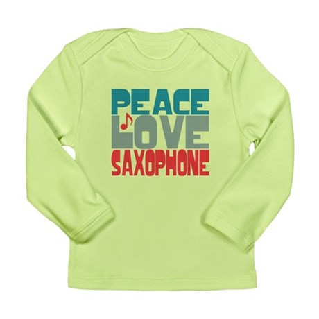 Peace Love Saxophone Long Sleeve Infant T-Shirt