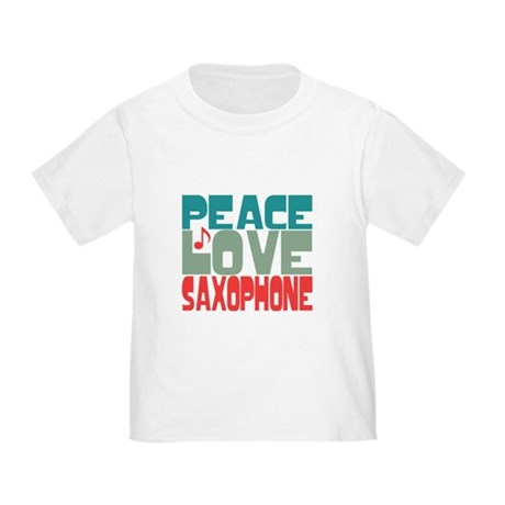 Peace Love Saxophone Toddler T-Shirt