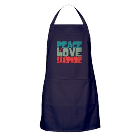 Peace Love Saxophone Apron (dark)