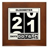 21st Birthday Oldometer Framed Tile