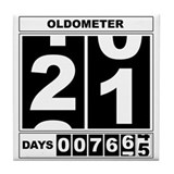 21st Birthday Oldometer Tile Coaster