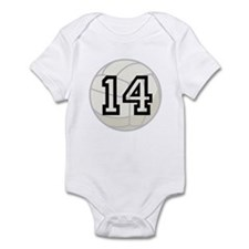 Volleyball Player Number 14 Infant Bodysuit