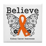 Believe Kidney Cancer Tile Coaster