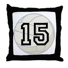 Volleyball Player Number 15 Throw Pillow