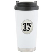 Volleyball Player Number 17 Ceramic Travel Mug