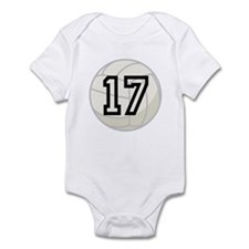 Volleyball Player Number 17 Infant Bodysuit