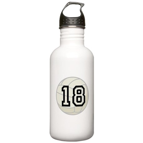 Volleyball Player Number 18 Stainless Water Bottle