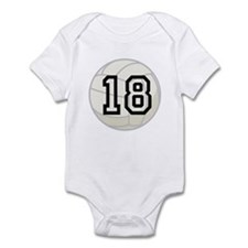 Volleyball Player Number 18 Infant Bodysuit