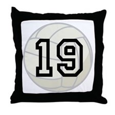 Volleyball Player Number 19 Throw Pillow