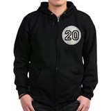 Volleyball Player Number 20 Zip Hoodie