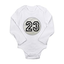 Volleyball Player Number 23 Long Sleeve Infant Bod