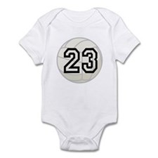 Volleyball Player Number 23 Infant Bodysuit