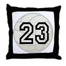 Volleyball Player Number 23 Throw Pillow