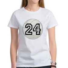 Volleyball Player Number 24 Tee