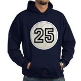 Volleyball Player Number 25 Hoodie