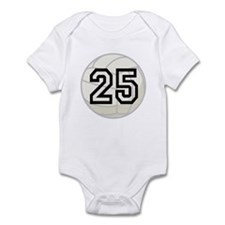 Volleyball Player Number 25 Infant Bodysuit
