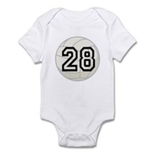 Volleyball Player Number 28 Infant Bodysuit