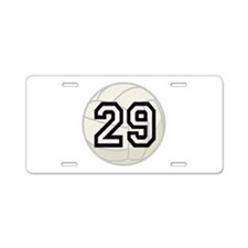 Volleyball Player Number 29 Aluminum License Plate