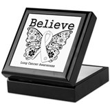 Believe Lung Cancer Keepsake Box