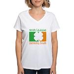 Irish League Drinking Team Women's V-Neck T-Shirt