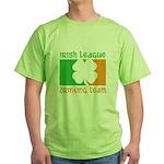 Irish League Drinking Team Green T-Shirt