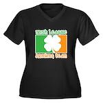 Irish League Drinking Team Women's Plus Size V-Nec