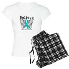 Believe Ovarian Cancer pajamas