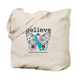 Believe Thyroid Cancer Tote Bag
