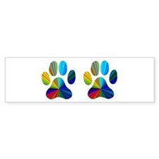 2 PAWS Bumper Sticker