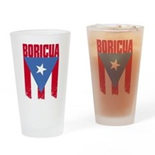 Boricua Flag Drinking Glass