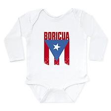 Boricua Flag Long Sleeve Infant Bodysuit