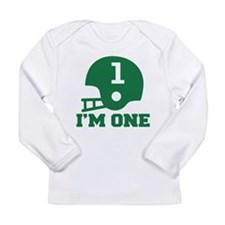 Cute 1st Birthday Football Long Sleeve Infant T-Sh