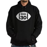 30th Birthday football Hoodie