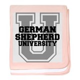 German Shepherd UNIVERSITY baby blanket