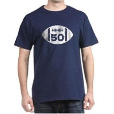 50th Birthday football T-Shirt
