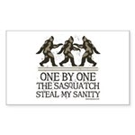 One By One The Sasquatch Sticker (Rectangle)