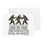 One By One The Sasquatch Greeting Card