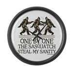 One By One The Sasquatch Large Wall Clock