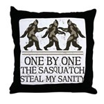 One By One The Sasquatch Throw Pillow