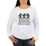 One By One The Sasquatch Women's Long Sleeve T-Shi