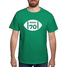70th Birthday football T-Shirt