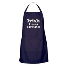 Irish I was drunk Apron (dark)