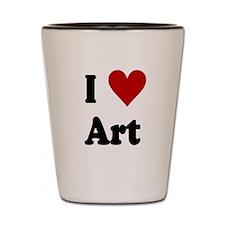 I Love Art Shot Glass