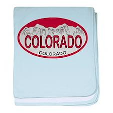 COLORADO Colo Plate baby blanket