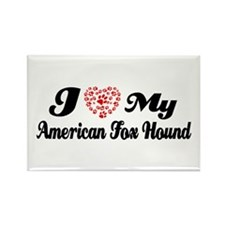 I love my American Fox Hound Rectangle Magnet (10