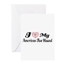 I love my American Fox Hound Greeting Cards (Pk of