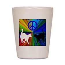 PEACE CATS Shot Glass