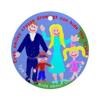 Abuse Awareness Ornament (Round)