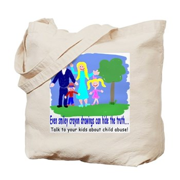 Abuse Awareness Tote Bag