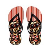 Beach Yorkie Flip Flops